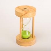 Часы песочные салатовые 10мин круглые
