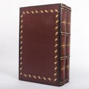 Книга шкатулка двухтомник Классика красный