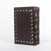Шкатулка в виде книги двухтомника Классика бордовая