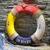 Спасательный круг 45см цветной декоративный