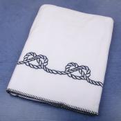 Плед флисовый Узлы с вышивкой 160*100см