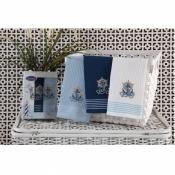 Набор полотенец для кухни Якорь и Штурвал (3шт)