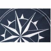 Подушка Роза ветров 37*37 см сине-белая