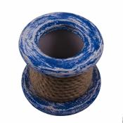 Карандашница Лебедка из дерева синяя 11 см