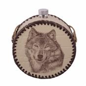 Фляга круглая Волк 0,5л
