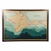 Панно Карта Крыма с морскими глубинами 57*82