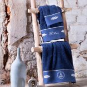 Набор полотенец TIVOLYO Anchor синий