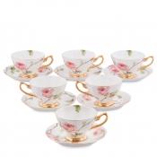 Чайный набор Итальянская роза на 6 персон (Pavone)