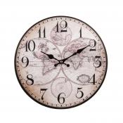 Часы настенные Полушария мира 34см