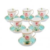 Чайный набор Роза на 6 персон (Milano Rose Pavone)