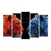 Модульная картина Леопарды 125*80см