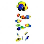 Аквариум воздушный Рыбки 16шт желто-синий