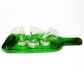 Набор Веселая Компания (3рюмки+тарелка-бутылка)