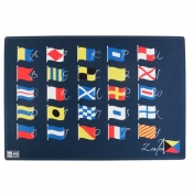 коврик на нескользящей основе abc flags