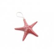 Подвесная красная морская звезда 21 см