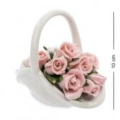 Композиция Розы в белой корзинке (Pavone)