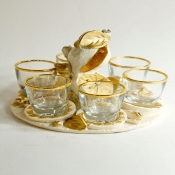 Набор стопок на подносе Лимоны