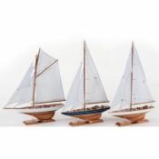 Яхта парусная 43см
