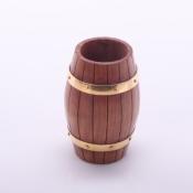 Карандашница деревянная Бочка