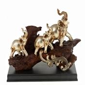 Слоны 17см с золотом