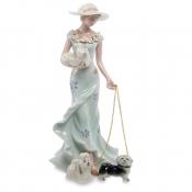 статуэтка дама с тремя собаками 23см (pavone)