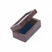 Шкатулка деревянная со стеклом 10см