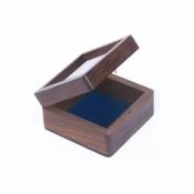 Шкатулка деревянная со стеклом 8см