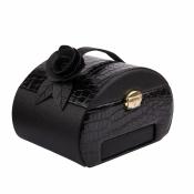 шкатулка-автомат для украшений черная 23см