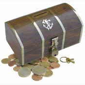 Копилка для денег Сундук с замком