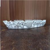 Подсвечник декоративный белый Коралл на 3 свечи