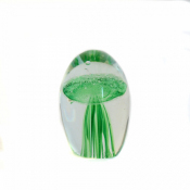 Медуза зеленая в стекле 6см