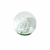 Стеклянная Медуза белая 9см