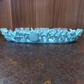 Подставка для 3 свечей голубая Коралл