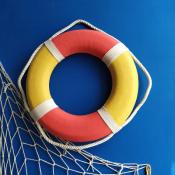 Спасательный круг 35см желто-красный