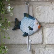 Крючок вешалка настенная металлическая Рыбка