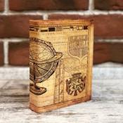 Книга шкатулка с глобусом