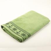 Полотенце зеленое Якорь 100*160см