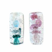 Стеклянная композиция Медузы синие 15см