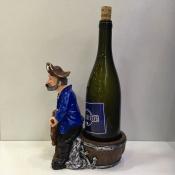 Подставка для 1 бутылки Пират за штурвалом 23см