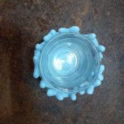 Подсвечник Коралл голубой на одну свечу