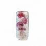 Стеклянная композиция Медузы розовые 15см